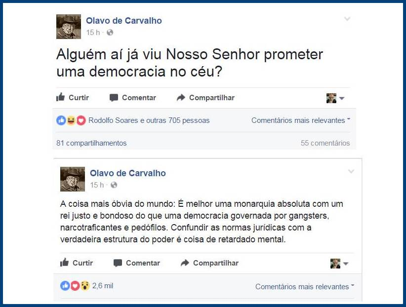 Olavo Autocrata Post Face 25mai17